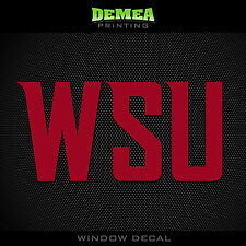Washington State - Cougars - WSU - NCAA - Red Vinyl Sticker Decal 5""