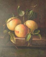 "Still Life with Fruit, 10""x8"" Oil Painting on Canvas, Genuine Hand Painted"