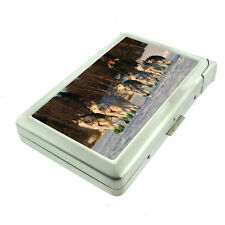 Alaska Images D11 Cigarette Case with Built in Lighter Metal Wallet Iditarod