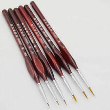 6Pcs Miniature Paint Brush Set Professional Sable Hair Detail Art Model Maker
