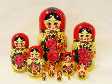 Matroschka 3- bis 10-tlg. Babuschka, Matroshka, Matroyshka Semenowskaja Матрешка