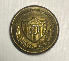 Massachusetts Independent Guard Pre Civil War Coat Button