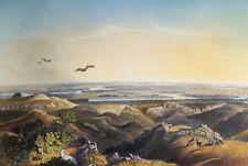 Yellowstone / Missouri prächtige Aquatinta von Weber nach Bodmer 1840 ORIGINAL!
