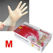 100 SunnyCare Powder Free Vinyl Gloves Food Service (Latex Nitrile Free) 🔥 M