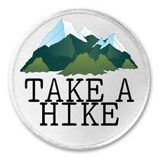 "Take A Hike - 3"" Sew / Iron On Patch Mountain Hiker Hiking Wanderer Explorer"