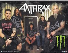 ANTHRAX SIGNED PHOTO ALL 5 MEMBERS VERY RARE AUTOGRAPHED SCOTT IAN FRANK BELLO
