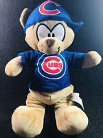 "NWT Chicago Cubs Plush Teddy Bear Good Stuff MLB 14"" Baseball Stuffed Rally Cap"