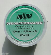 100 m dekofaden 0,80 mm 27 kg Bastelfaden nylon fil perlon Fil (1m/0, 06 €)