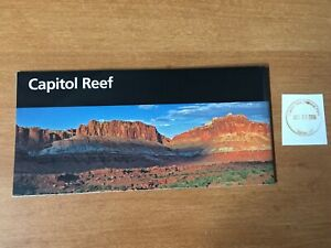 Capitol Reef National Park Unigrid Brochure Map and Passport stamp