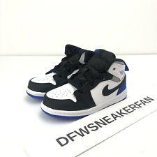 Nike Jordan 1 Mid SE White/Hyper Royal-Black TD Toddler BQ6933 102 Size 8C