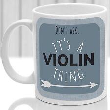 Violon chose Mug, idéal pour n'importe quel violoniste (bleu)