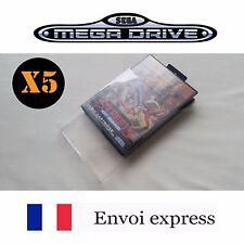 5X Protection transparente pour boite Sega Megadrive - boitier case sleeve
