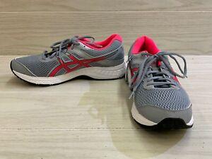 ASICS GEL-Contend 6 1012A571 Running Shoe - Women's Size 10.5 W, Gray/Pink