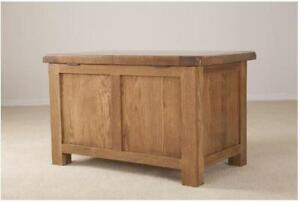 Trewick Rustic Oak Blanket Box