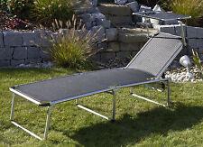 Dreibeinliege XL Liege Alu mit Dach schwarz extra hoch und lang 862879 NEU ovp