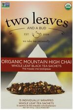 6 Boxes of 15 sachets TWO LEAVES AND A BUD Organic Black Tea Mountain High Chai