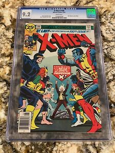 X-MEN #100 CGC 9.2 WHITE PAGES OLD X-MEN VS NEW X-MEN HOT NEW MOVIE INVEST NOW!