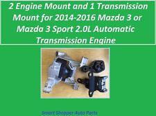 2 Engine & 1 Transmission Mount for 2014-2016 Mazda 3 or Mazda 3 Sport 2.0L AT
