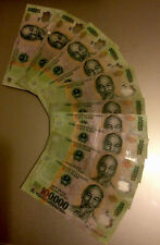 More details for genuine 2 mil vietnam dong 20 x 100,000 circulated polymer bank notes currency