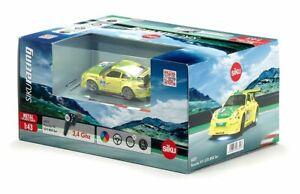 SIKU 6822, Porsche 911 GT3 RSR, Ferngesteuertes Spielzeugauto, 1:43, Gelb/Grün,