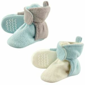 Hudson Baby Girl Toddler Fleece Lined Scooties with Non Skid Bottom, 2 Pack, Min