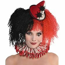 Adult Ladies Freak Show Clown Blood Stained Ruffle Collar Halloween Accessory