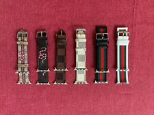 Luxury Leather Strap iWatch Band For Apple Watch Series 6/5/4/3/2/1 38/40/42/44M