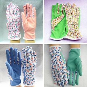 1Pair Gardening Women's Soft Cotton Jersey Garden Gloves One SiMO