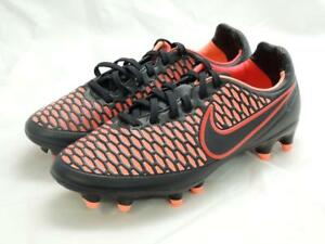 NIKE MAGISTA ORDEN FG WOMENS SOCCER CLEATS SIZE 12 MANGO BLACK RED 658571-002
