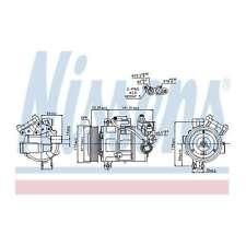Fits BMW 1 Series E87 116i Genuine OE Quality Nissens A/C Air Con Compressor