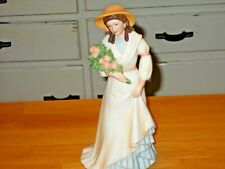 Home Interiors Homco 1468 Charlotte Rose Porcelain Lady With Flowers