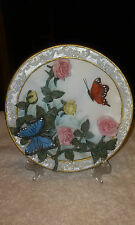 Ceramic Butterfly Floral 3D Plate