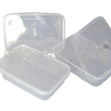 20 x PLASTIC 650ml MICROWAVE FOOD TAKEAWAY CONTAINERS