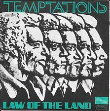 "45 TOURS / 7"" SINGLE--THE TEMPTATIONS--LAW OF THE LAND / RUN CHARLIE RUN--1973"