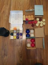 """Lot Partylite 39 Unlit Tealights Candles Melts Various Scents & 3"""" Pillar Stand"""