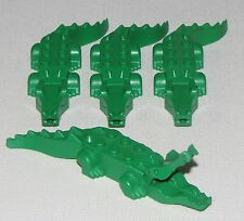 LEGO LOT OF 4 GREEN ALLIGATORS CROCODILES RIVER MINIFIGURE ANIMALS