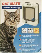 Cat Mate Timer Control Cat Flap Keep Your Cat Safe 359W