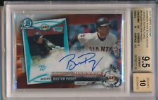 Buster Posey Giants 2017 Topps Chrome 2008 Bowman Orange 1/25 BGS 9.5 10 Auto