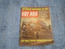 HOT ROD MAGAZINE AUGUST 1968 DIRT TRACK RACING AHRA'S 390 AMX SPOILERS INDY 500