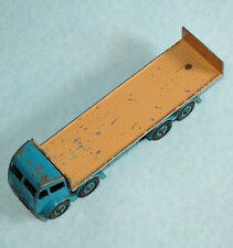 DINKY Meccano England rare 1957 FODEN with TAILBOARD lt. blue fawn riveted #903