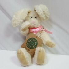 Boyds Bears Plush Rabbit Small White Nwt Jointed Collectible Easter Decoration
