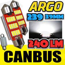 2 x 239 272 C5w Sin Errores LED 12SMD 2 piezas Festoon Blanco Placa Bombillas