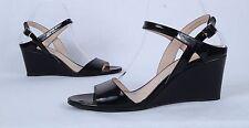 PRADA Quarter Sandal- Black Patent- Size 9.5 US/ 39.5 EU  $650   (BB5)