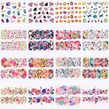45Sheets Nail Art Flower Water Transfer Stickers Nail Wraps Sticker Foil
