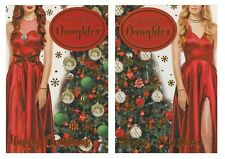 MODERN ~ TO A SPECIAL DAUGHTER  CHRISTMAS CARD 2 DESIGNS 1ST P&P