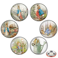 "Tale of Peter Rabbit 1.25"" Pinback Button BADGE SET Novelty Pins Beatrix Gift"