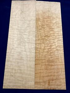 #314 Quilted Maple Drop Top Luthier Tonewood Figured Bookmatched Set