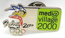 MEDIA VILLAGE SILVER & GREEN SYDNEY OLYMPIC GAMES 2000 PIN BADGE COLLECT #316