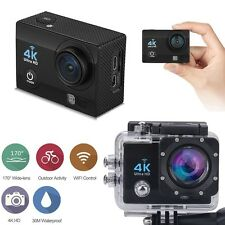 "12MP 4K FHD 1080P 2 ""WIFI Sport Action Camera Video DVR DV CAM BICI IMPERMEABILE"