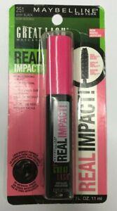 MAYBELLINE Great Lash REAL IMPACT Washable Mascara 251 Very Black